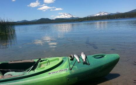Kayak on lake