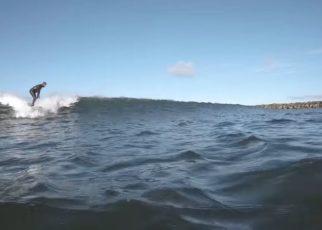 Man surfing on wave