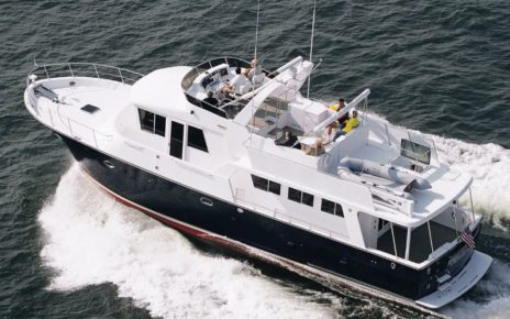Yacht cruising local waters.