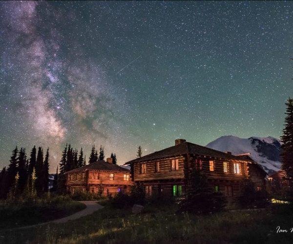 Stars on Mountain Rainier